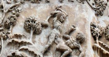 Relief Caïn-Abel - Lorenzo Maitani Italie 14ème siècle
